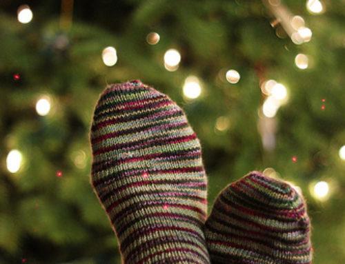 Chaussettes à paillettes cet hiver !