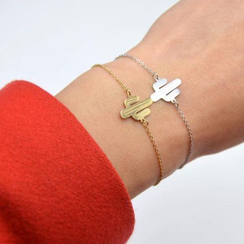 Bracelet-Fine-Chaine-avec-Charm-Cactus-Acier