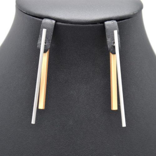 Boucles-dOreilles-Traversantes-Double-Barres-Metal-Mat-Argente-Dore