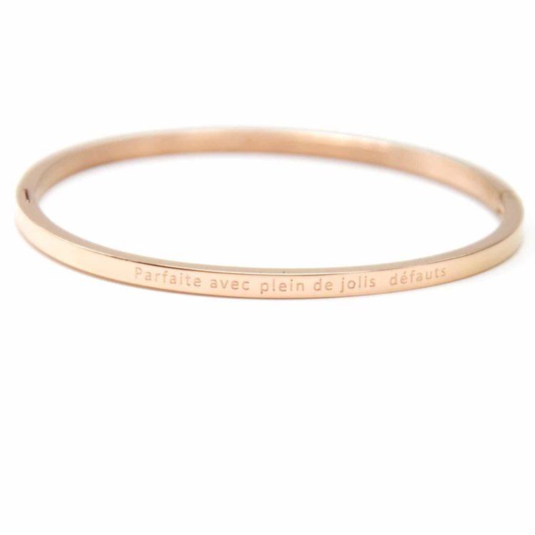 Bracelet-Jonc-Fin-Acier-Or-Rose-avec-Message-Parfaite-avec-Plein-de-Jolis-Defauts