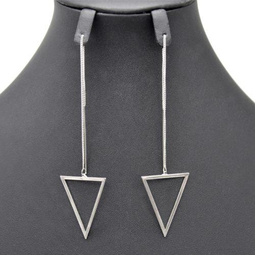 Boucles-dOreilles-Traversantes-Fine-Chaine-et-Triangle-Inverse-Metal-Argente