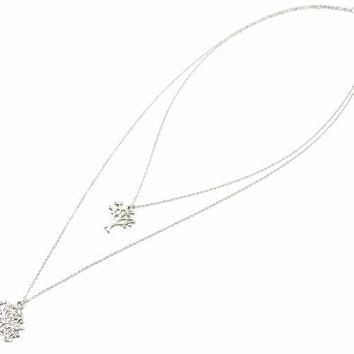 Collier-Double-Rangs-Pendentifs-Arbres-de-Vie-Metal-Argente