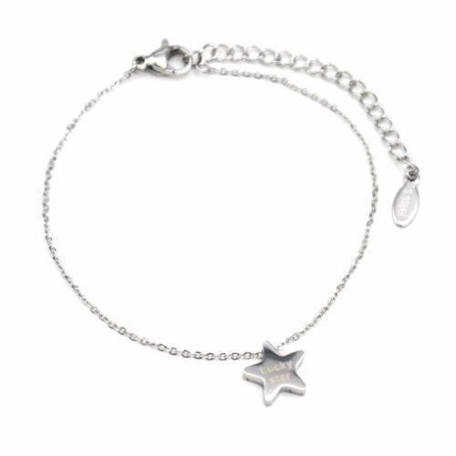 Bracelet-Fine-Chaine-avec-Charm-Etoile-Acier-Argente-et-Message-Lucky-Star