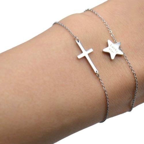 Bracelet-Fine-Chaine-avec-Charm-Acier-Argente