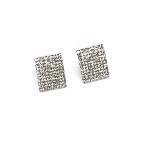 Boucles-dOreilles-Grand-Rectangle-Metal-Argente-avec-Strass