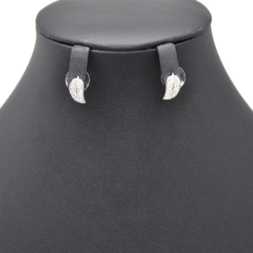 Boucles-dOreilles-Feuille-Metal-Argente-avec-Strass-Zirconium