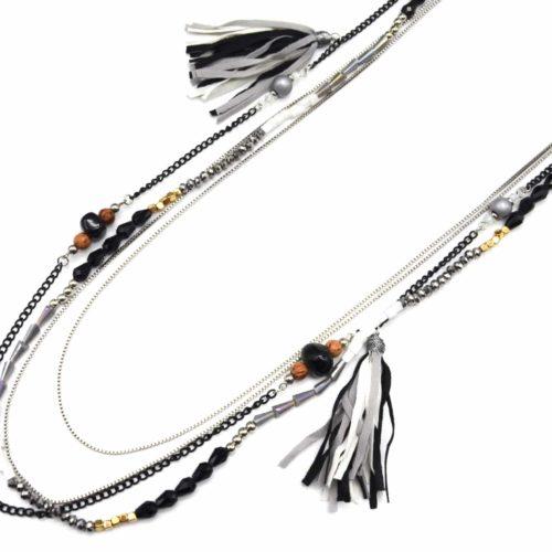 Sautoir-Collier-Multi-Chaines-Perles-et-Pierres-avec-Pompons-Franges-Gris