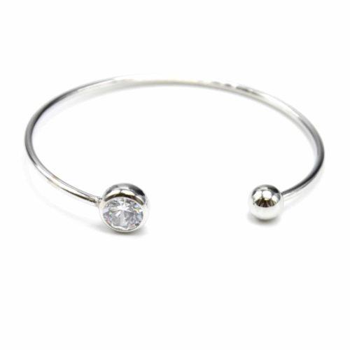 Bracelet-Jonc-Ouvert-avec-Pierre-Ronde-et-Boule-Metal-Argente