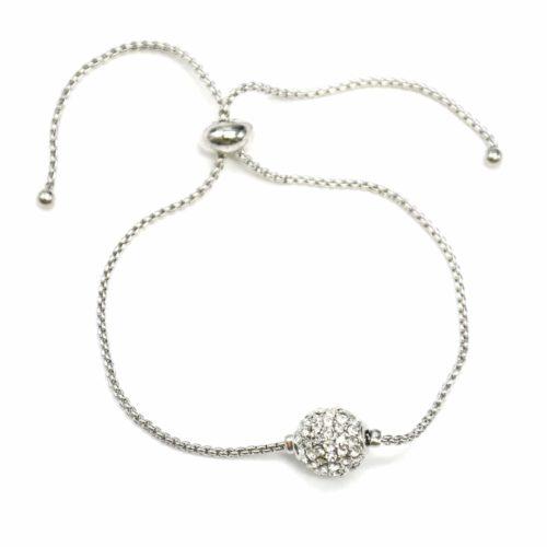 Bracelet-Chaine-Ajustable-avec-Charm-Boule-Shamballa-Strass-Argente
