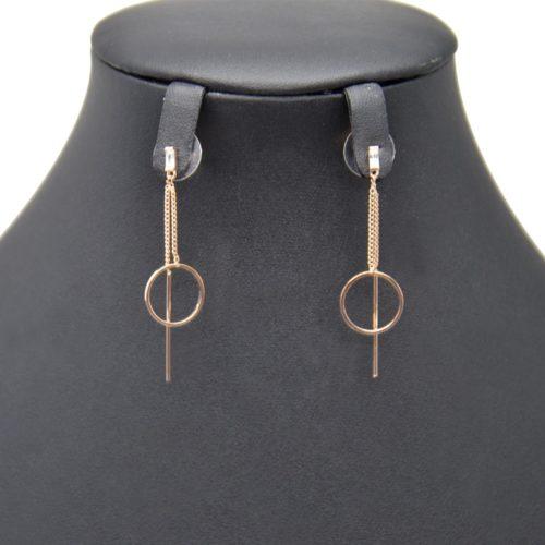 Boucles-dOreilles-Pendantes-Pierre-Zirconium-avec-Cercle-Ouvert-et-Barre-Metal-Or-Rose