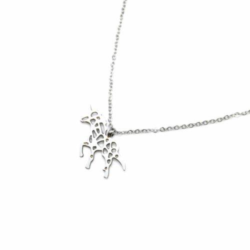 Collier-Fine-Chaine-Pendentif-Licorne-Ajouree-Acier-Argente