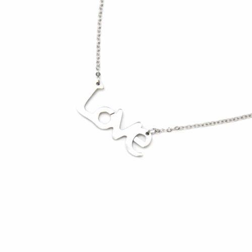 Collier-Fine-Chaine-Pendentif-Message-Love-Acier-Argente