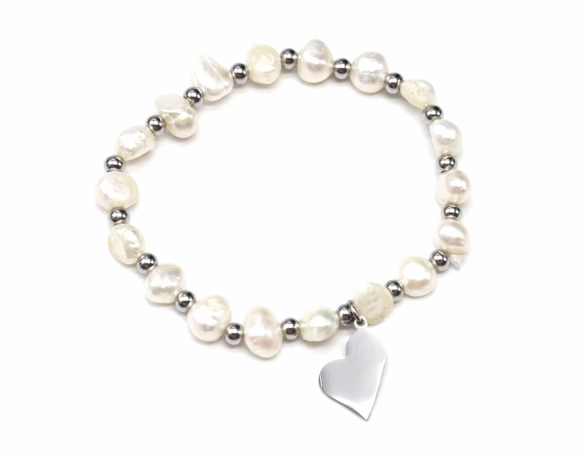 bc2448e bracelet elastique perles d 39 eau douce et boules. Black Bedroom Furniture Sets. Home Design Ideas