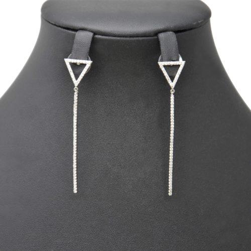 Boucles-dOreilles-Pendantes-avec-Triangle-Inverse-et-Barre-Strass-Zirconium-Metal-Argente