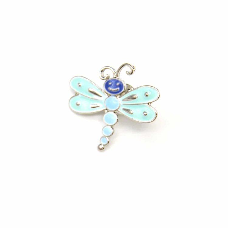 Mini-Broche-Pins-Libellule-Metal-Peint-Bleu-avec-Ailes-et-Metal-Argente