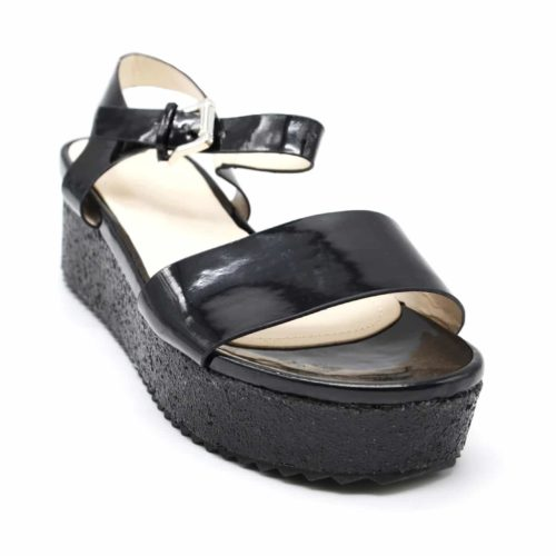 Sandales-a-Talon-Plateforme-Compensee-Paillettes-avec-Brides-Effet-Metallise-Noir