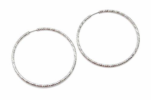 Boucles-dOreilles-Creoles-Argente-avec-Relief-Brillant-Dore-a-l'Or-Fin-Diametre-7cm