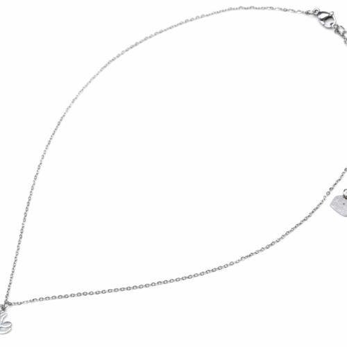 Collier-Fine-Chaine-Pendentif-Cerf-Renne-Acier-Argente