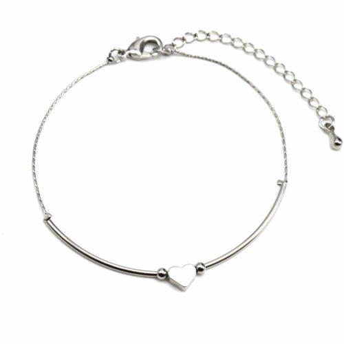 Bracelet-Fine-Chaine-avec-Charm-Mini-Coeur-Metal-Argente