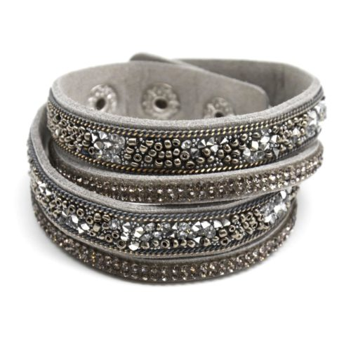 Bracelet-Double-Tour-Feutrine-avec-Perles-de-Rocaille-Gris-et-Strass