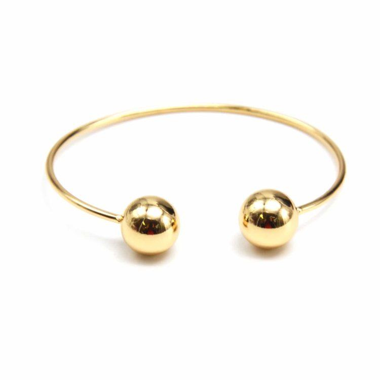 Bracelet-Jonc-Ouvert-avec-Boules-Metallisees-Dore