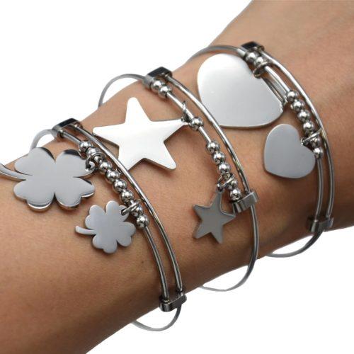 Bracelet-Jonc-Ajustable-avec-Multi-Boules-et-Pampilles-Acier-Argente