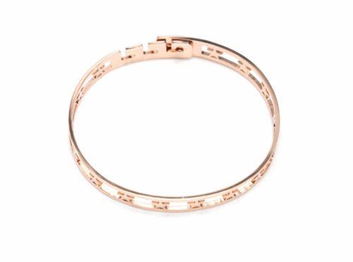 Bracelet-Jonc-Acier-Or-Rose-avec-Bande-Ajouree-Etoiles