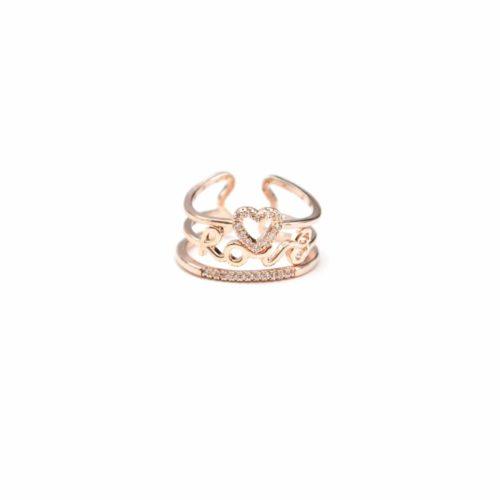 Bague-Multi-Anneaux-Metal-Or-Rose-avec-Coeur-Message-Love-et-Bande-Strass-Zirconium