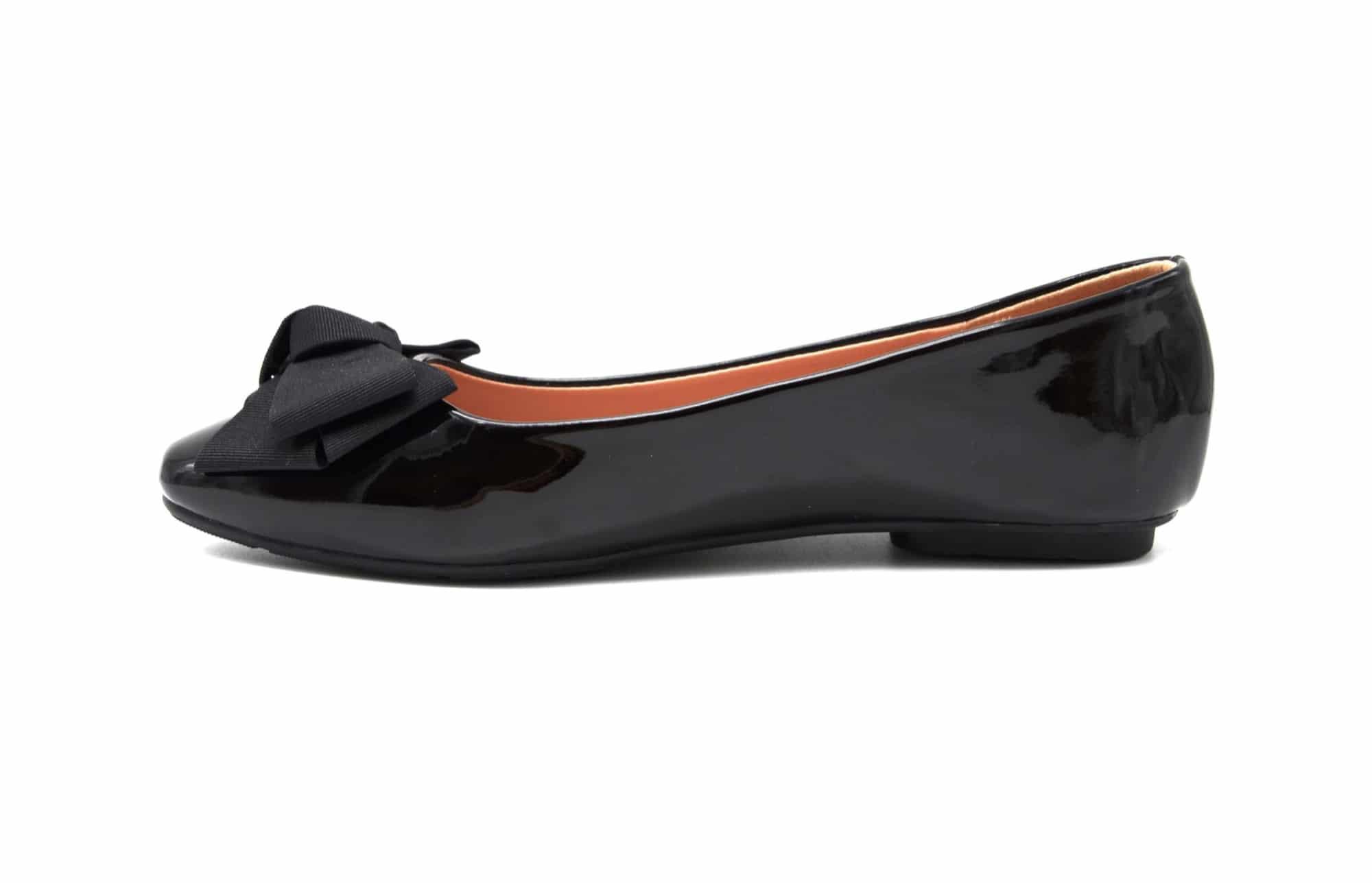 shf81 ballerines vernies avec noeud rubans larges et bout carr noir oh my shop. Black Bedroom Furniture Sets. Home Design Ideas