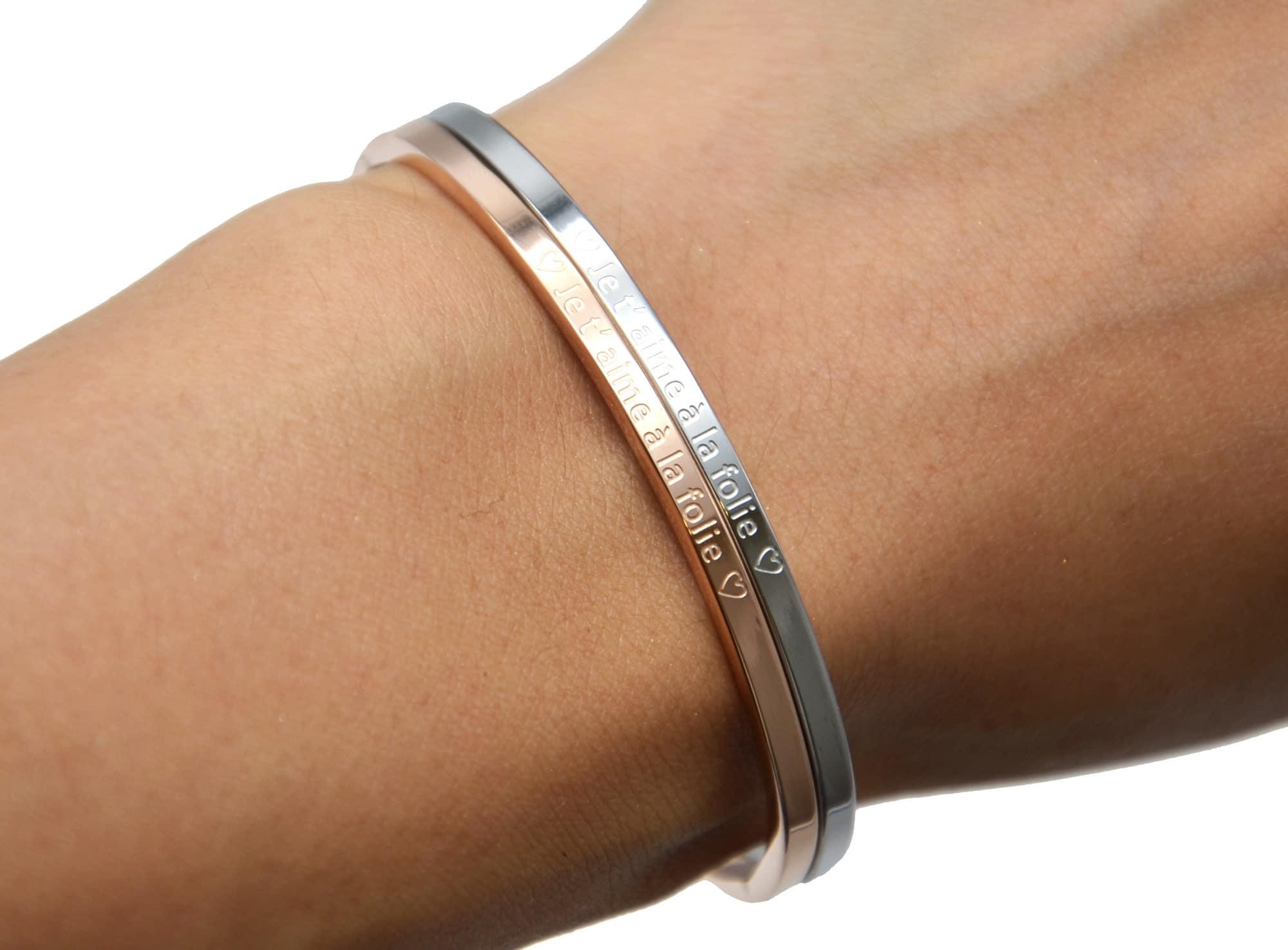 bracelet femme je t'aime