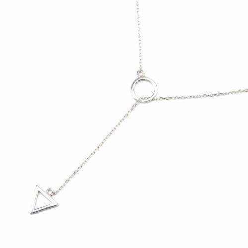 Collier-Fine-Chaine-Argent-925-Pendentif-Y-Cercle-et-Triangle-Inverse