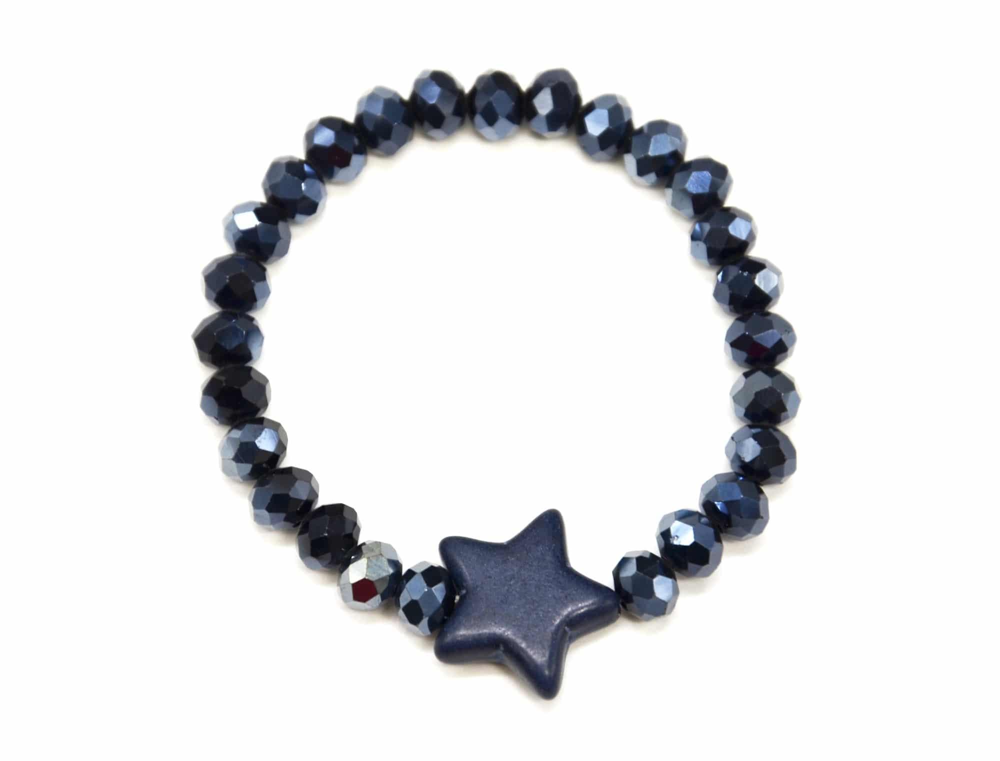 bc2670f bracelet elastique perles brillantes avec charm. Black Bedroom Furniture Sets. Home Design Ideas