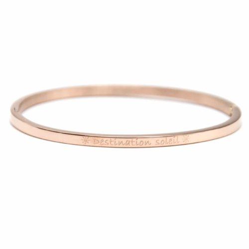 Bracelet-Jonc-Fin-Acier-Or-Rose-avec-Message-Destination-soleil