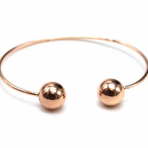 Bracelet-Jonc-Ouvert-avec-Boules-Metallisees-Or-Rose