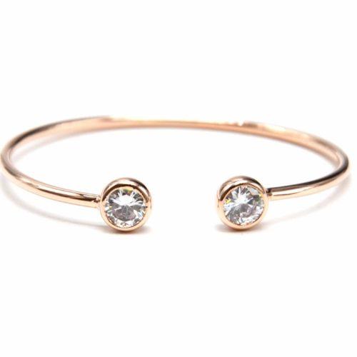 Bracelet-Jonc-Ouvert-avec-Pierres-Zirconium-et-Plaquage-Superieur-Or-Rose