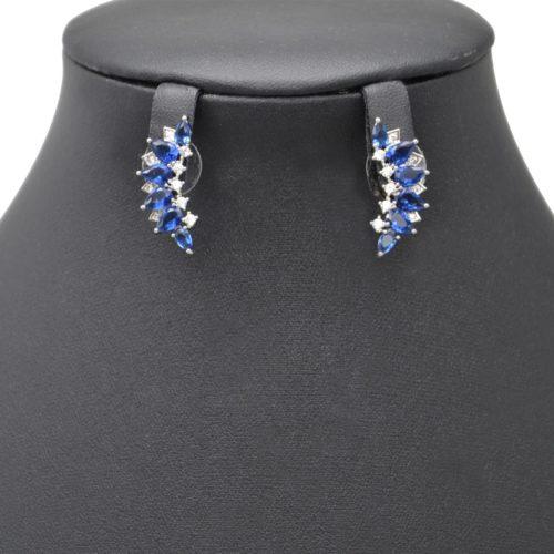 Boucles-dOreilles-Multi-Pierres-Gouttes-Bleu-Strass-Zirconium-et-Metal-Argente