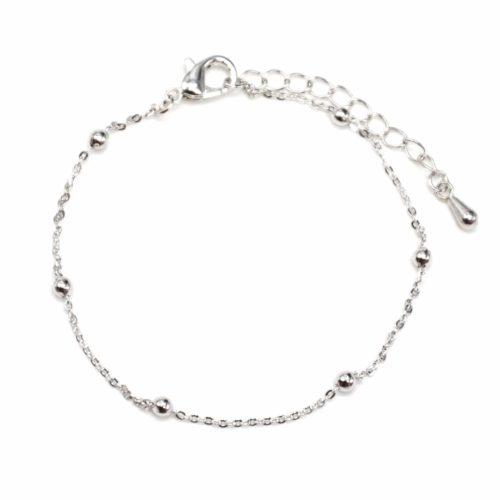 Bracelet-Fine-Chaine-Mini-Boules-Argente-Metal-Dore-a-lOr-Fin