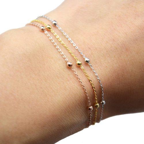 Bracelet-Fine-Chaine-Mini-Boules-Metal-Dore-a-lOr-Fin