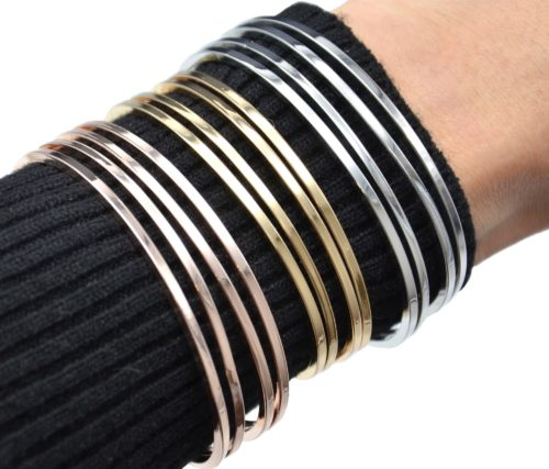 Bracelet-Jonc-Multi-Rangs-Barres-Metal