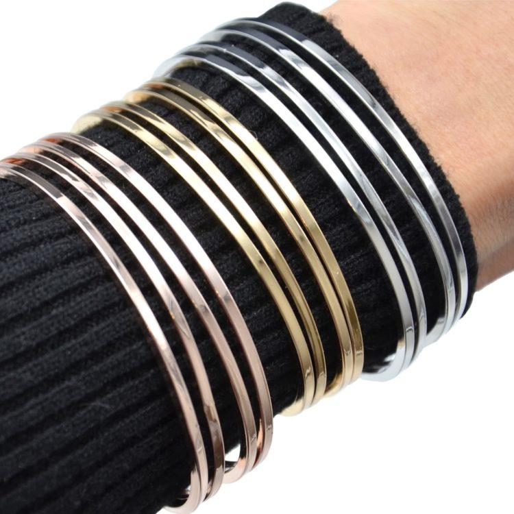 Bracelet-Jonc-Multi-Rangs-Barres-Metal