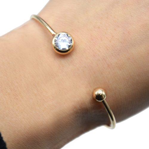 Bracelet-Jonc-Ouvert-avec-Pierre-Ronde-et-Boule-Metal-Dore