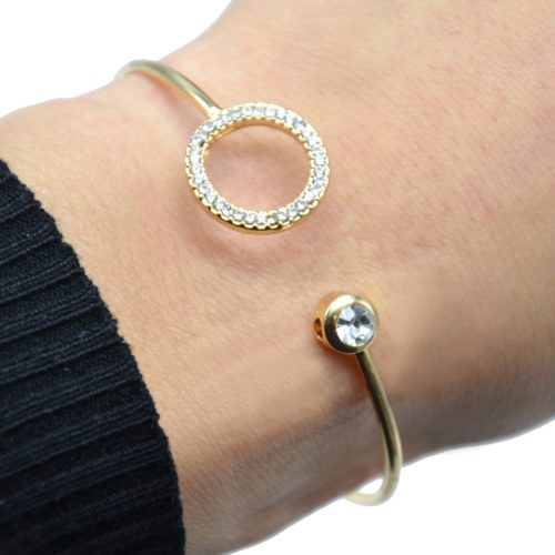 Bracelet-Jonc-Ouvert-avec-Pierre-et-Cercle-Contour-Strass-Dore
