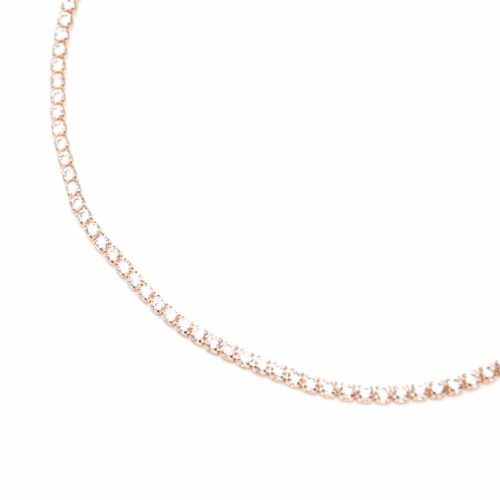 Collier-Ras-du-Cou-Fine-Rangee-Strass-Zirconium-Or-Rose