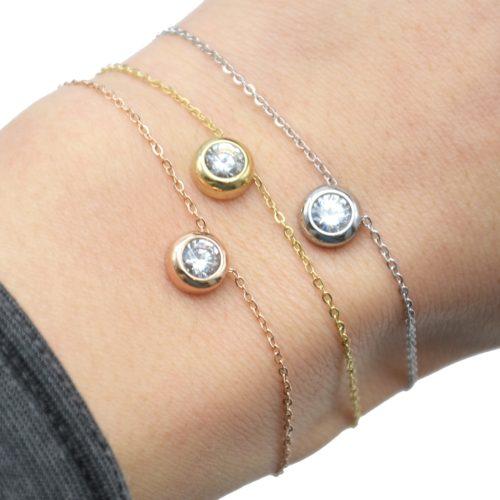 Bracelet-Fine-Chaine-avec-Charm-Pierre-Contour-Acier