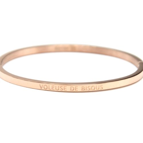Bracelet-Jonc-Fin-Acier-Or-Rose-avec-Message-Voleuse-de-Bisous