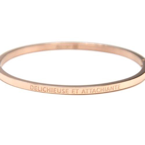 Bracelet-Jonc-Fin-Acier-Or-Rose-avec-Message-Delichieuse-et-Attachiante