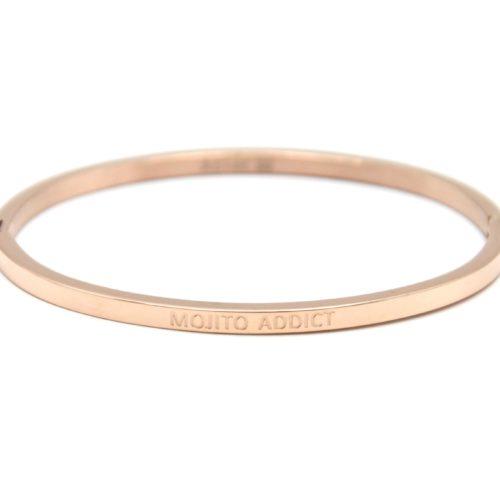 Bracelet-Jonc-Fin-Acier-Or-Rose-avec-Message-Mojito-Addict