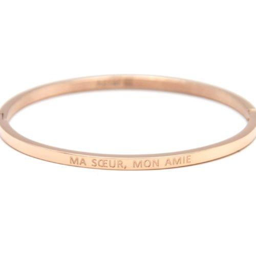 Bracelet-Jonc-Fin-Acier-Or-Rose-avec-Message-Ma-Soeur-Mon-Amie