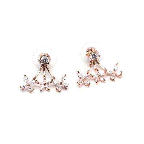 Boucles-dOreilles-Balancier-Pierre-et-Multi-Fleurs-Zirconium-Metal-Or-Rose