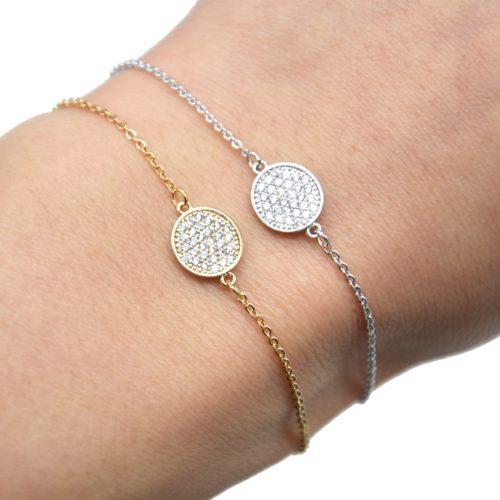 Bracelet-Fine-Chaine-Dore-a-lOr-Fin-avec-Charm-Cercle-Strass
